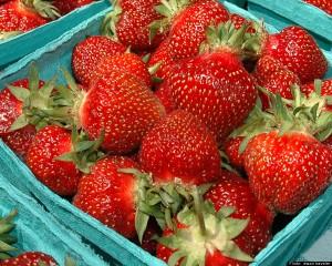 strawberries ビタミンCを多く含むいちご