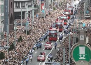 50万人が熱狂 銀座パレード